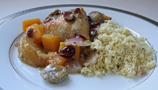 BRAISED CHICKEN WITH SQUASH & CRANBERRIES - Butter with a ...