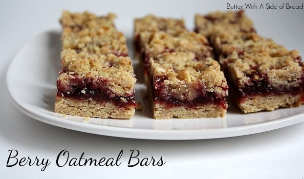 Healthified berry oatmeal bars are a simple oatmeal bar recipe with delicious berry flavored jam. Eat them as oatmeal snack bars or serve them for breakfast. They taste great either way!