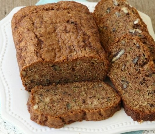Classic zucchini bread recipe that is easily our family's favorite. Easy to make and you'll love the added cinnamon and vanilla. It's the perfect zucchini bread recipe!
