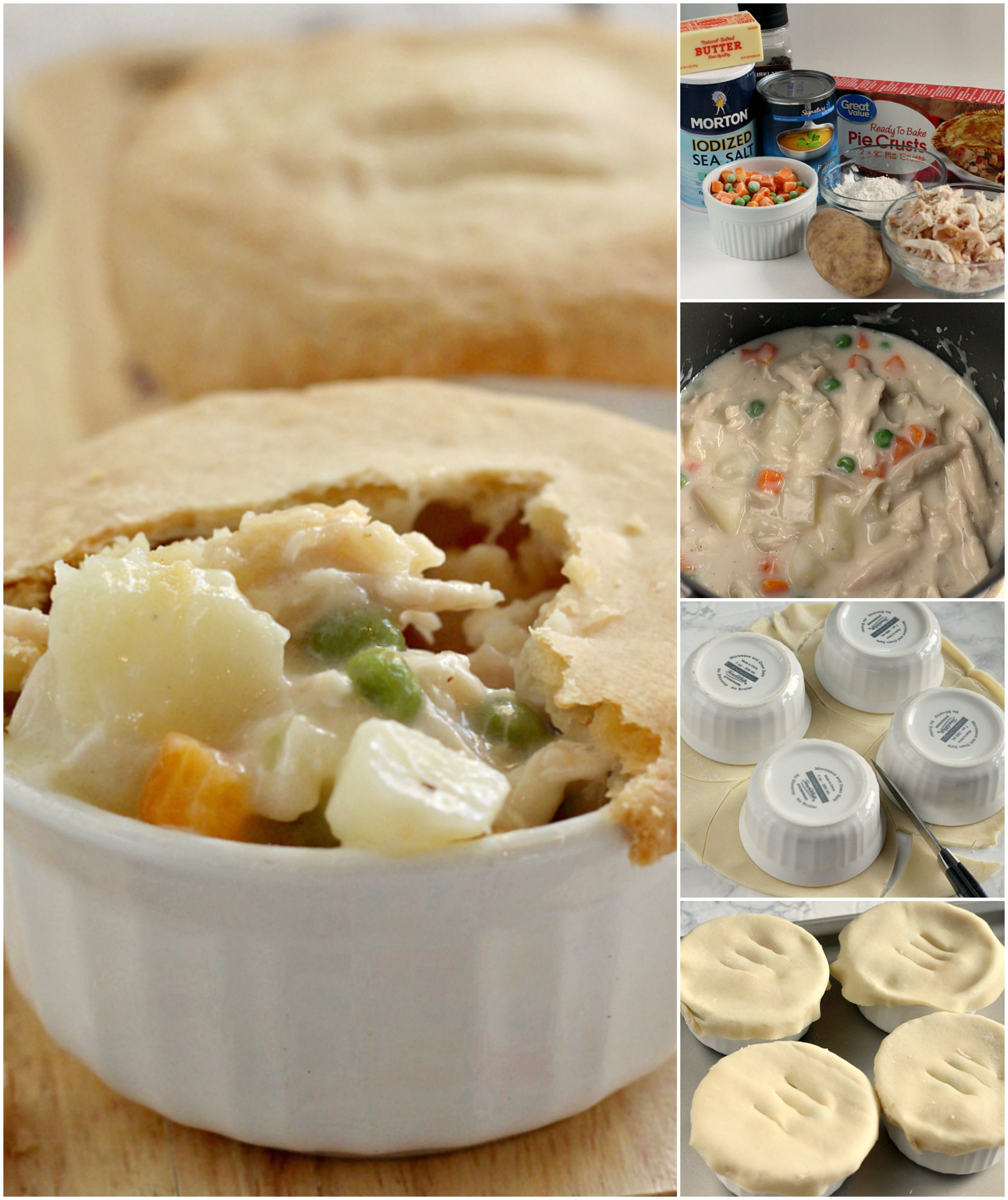 Chicken Pot Pie is the ultimate comfort food full of chicken and vegetables in a creamy sauce covered with a flaky pie crust. This Chicken Pot Pie recipe is a family favorite because it is easy to make and is absolutely delicious too!