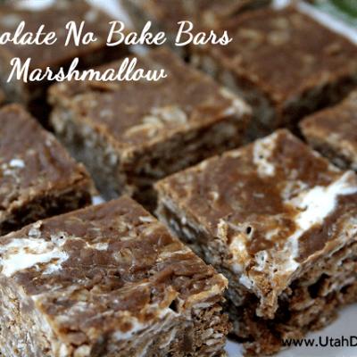 CHOCOLATE NO BAKE BARS WITH MARSHMALLOW