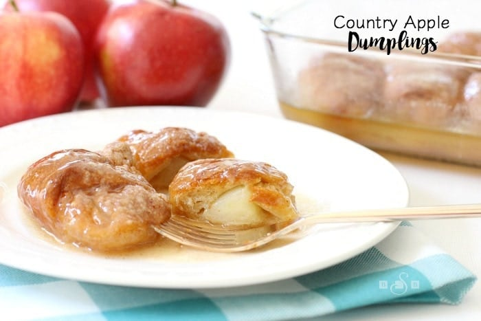 Country Apple Dumplings - Butter With A Side of Bread