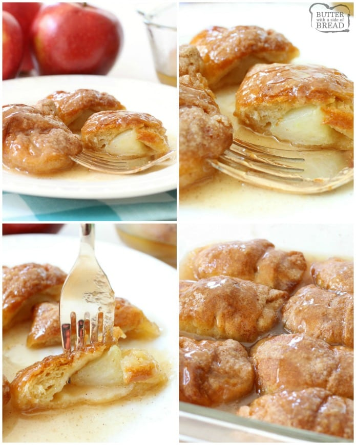 Easy Apple Dumplings Recipe Butter With A Side Of Bread