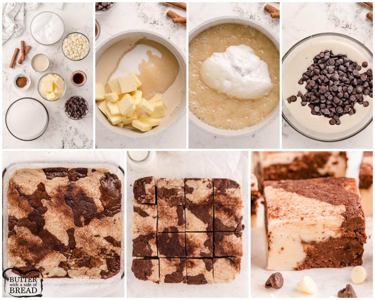 steps to making cinnamon marble fudge