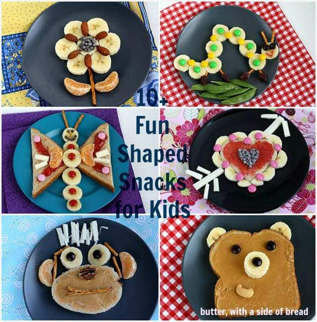 fun kid snacks with bananas butter with a side of bread - Fun Kid Pictures