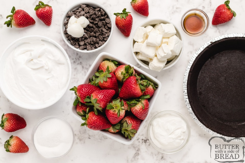 Ingredients in Strawberries and Cream Pie