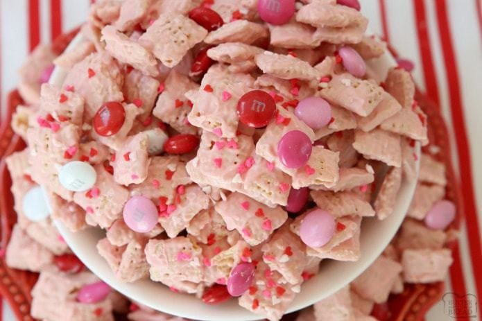 STRAWBERRY VALENTINE CHEX MIX - Butter with a Side of Bread