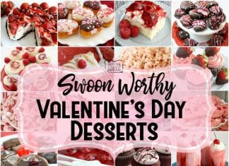 Easy Valentine's Day Desserts perfect for your special someone and guaranteed to make him or her swoon! Cookies, cakes, strawberry pies, chocolate pretzels and more Valentine's Day desserts for everyone. Lots of class party ideas!