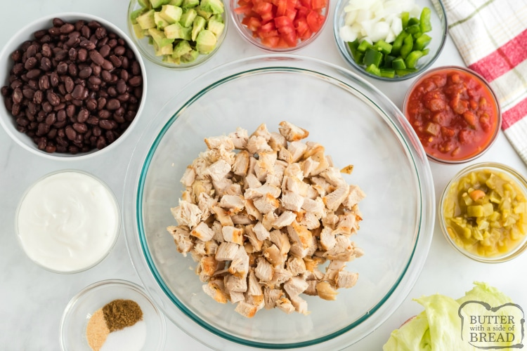 Ingredients in lettuce wraps