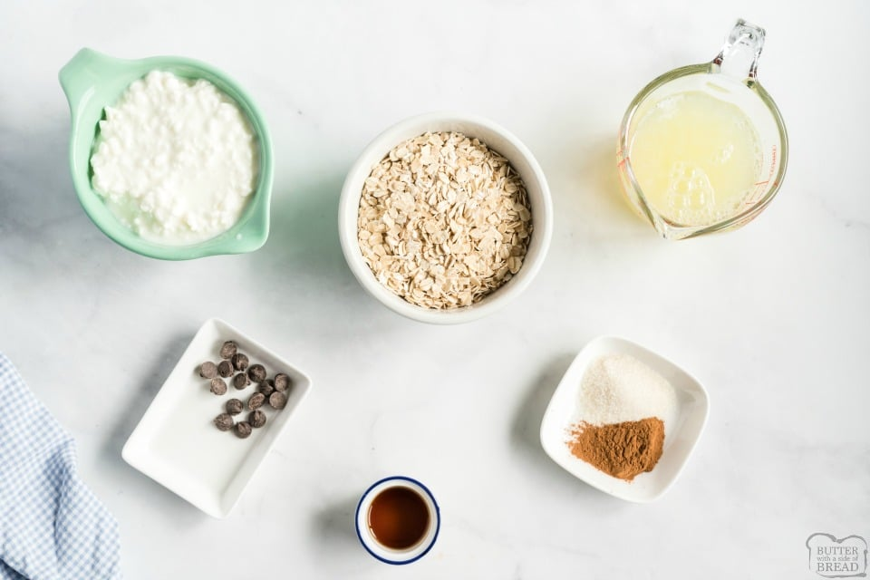 Easy Protein Pancake recipe ingredients oats cottage cheese