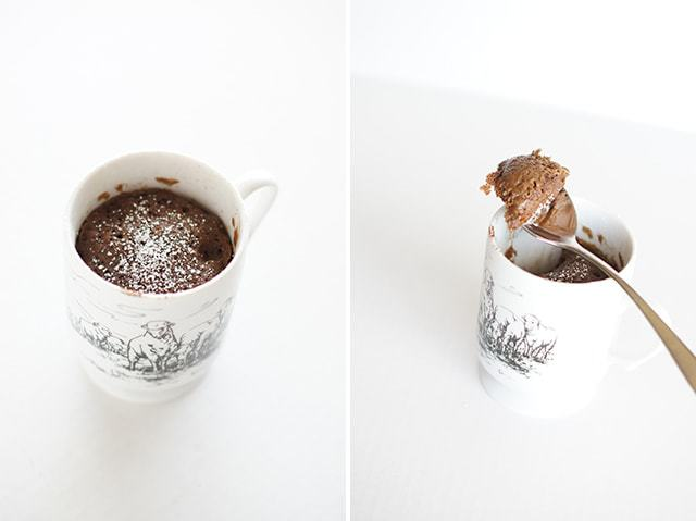 Mug Cake just might be the best invention! Grab a mug, flour, sugar, cocoa, etc, and 30 seconds later Dessert is served! My kind of quick treat!