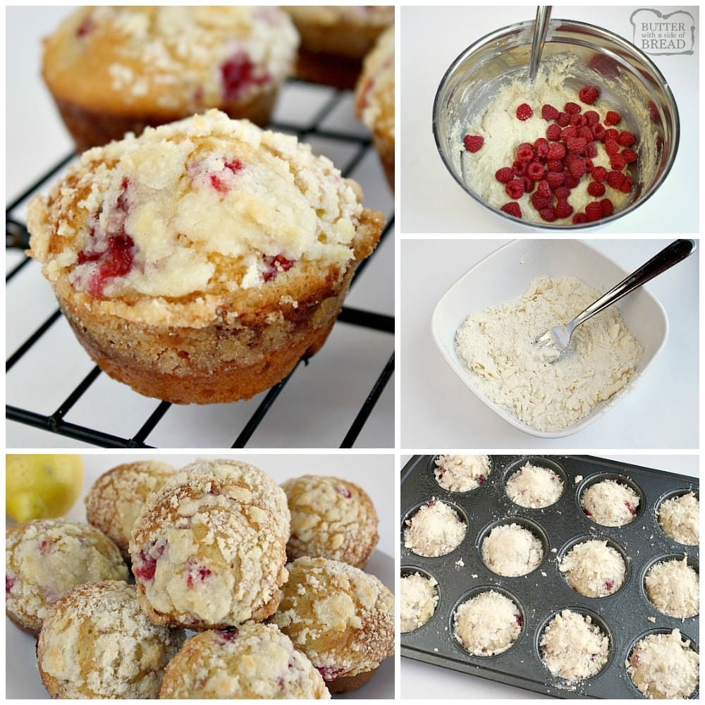 LEMON RASPBERRY STREUSEL MUFFINS - Butter with a Side of Bread