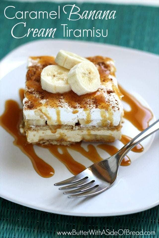 Caramel Banana Cream Tiramisu