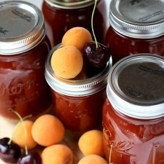 Apricot-Cherry-Jam.-Butter-with-a-Side-Of-Bread.050Pin