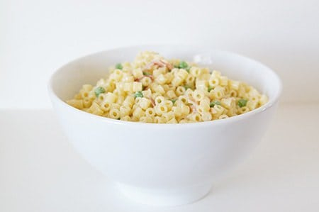 butter with a side of bread, summertime pasta salad with lemon dressing