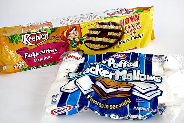 """Butter with A Side of Bread: Fudge Striped Cookie """"S'mores"""""""