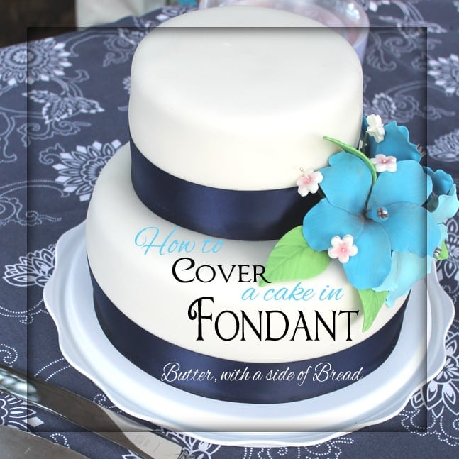 how to cover cake with fondant icing