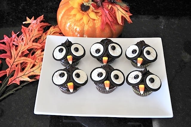 how to make owl cupcakes with oreos