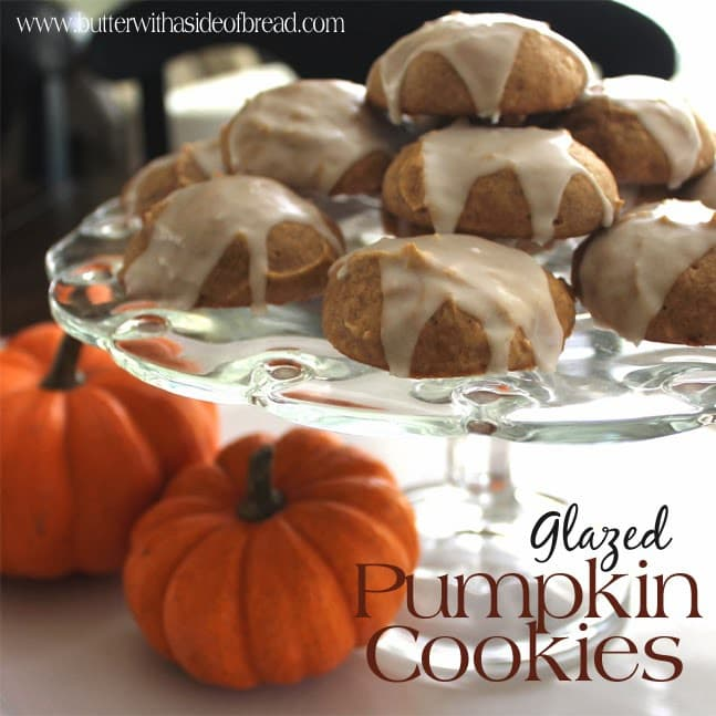 glazed pumpkin cookies:butter with a side of bread