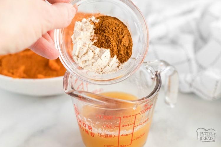 maple cinnamon butter for sweet potatoes