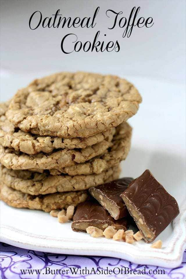 OATMEAL TOFFEE COOKIES: Butter with a Side of Bread
