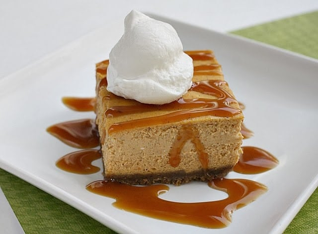 PUMPKIN CARAMEL CHEESECAKE BARS - Butter With a Side of Bread