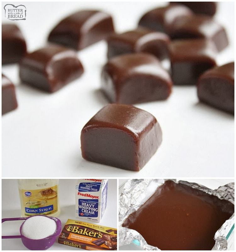 Chocolate Caramels are soft, chewy 4-ingredient homemade caramels with the amazing addition of chocolate! Perfect holiday treats that are easy to make!