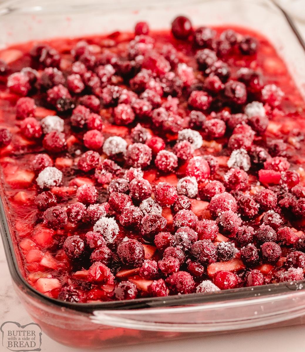 festive cranberry jello