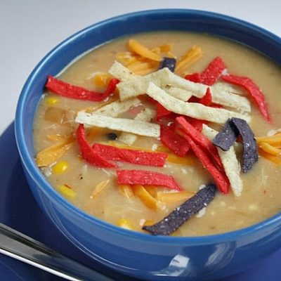 CHICKEN TORTILLA SOUP (made completely from food storage!)