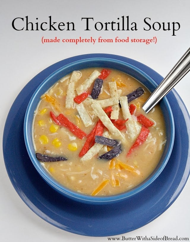 Butter With a Side of Bread: Chicken Tortilla Soup