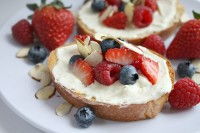 Berry Almond Bruschetta