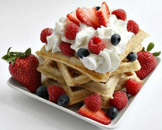 Oatmeal Waffles are the perfect way to start your day! They are filling, oh so delicious, and are sure to perk up even the grouchiest of non morning people!