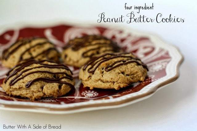 PEANUT BUTTER COOKIES {4-INGREDIENTS!}: Butter with a Side of Bread