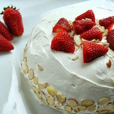 ALMOND BERRY ANGEL FOOD CAKE