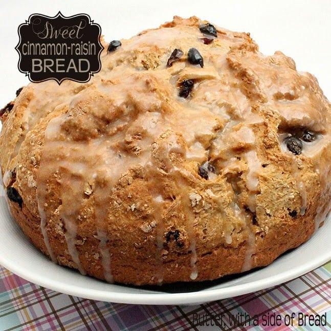 Sweet Cinnamon Raisin Quick Bread