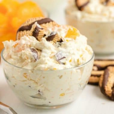 A super simple and incredibly easy holiday recipe for cookie salad is perfect for Easter!