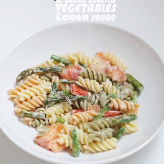 2014-04.-Roasted-Veg-Pasta-w-Cream-Sauce_13words