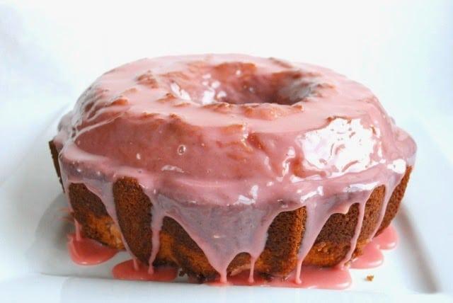 Glazed Strawberry Bundt Cake
