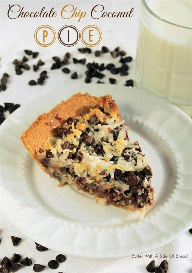 Chocolate Chip Coconut Pie - Butter With A Side of Bread