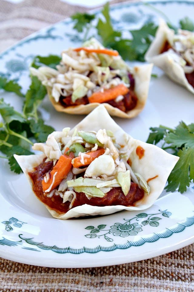 Butter With a Side of Bread: Asian BBQ Chicken Wontons