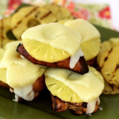 CHEESY GRILLED PINEAPPLE CHICKEN