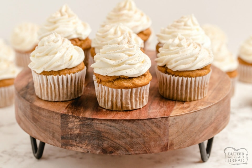 Best Pumpkin Spice Cupcakes with Cream Cheese Frosting