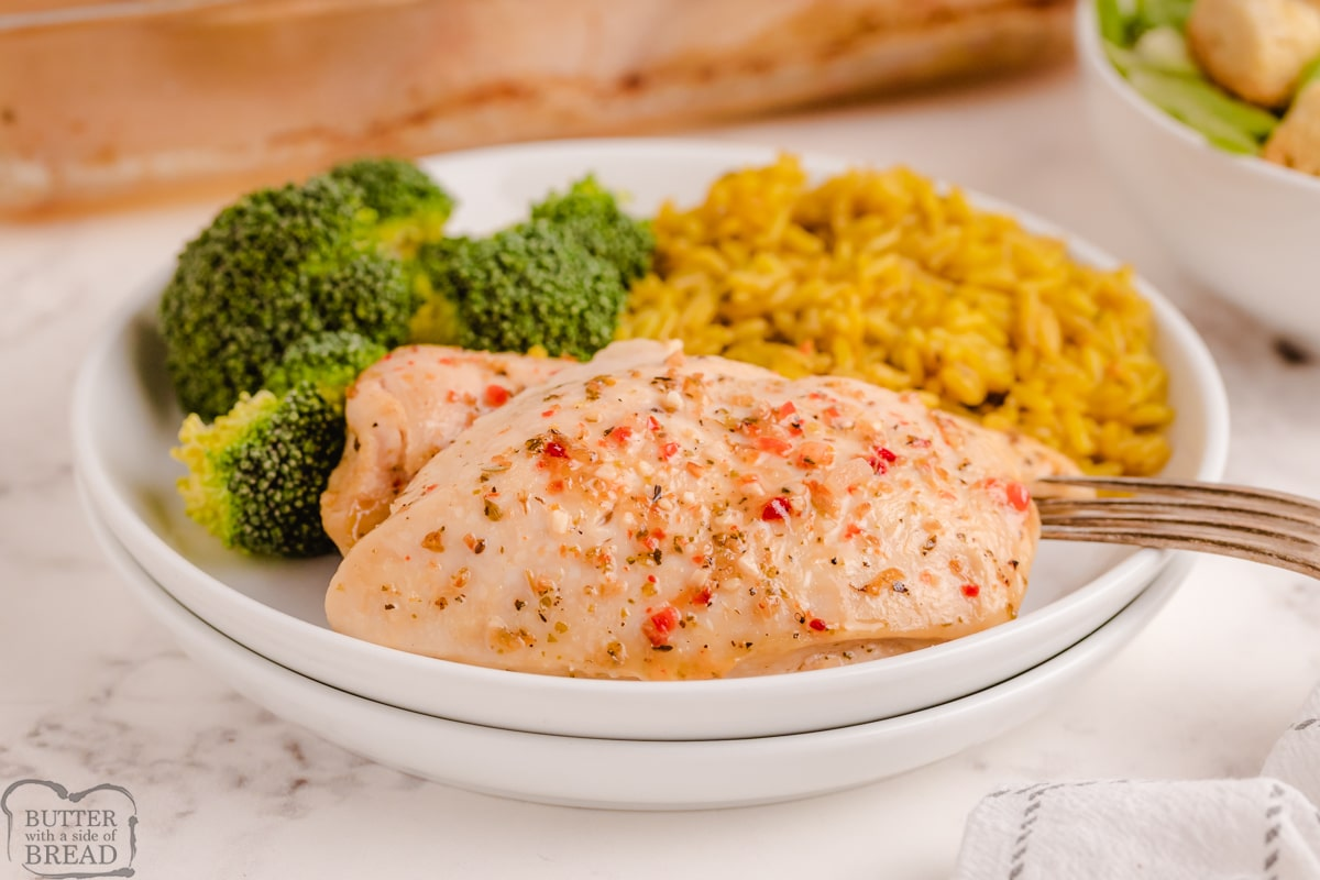 zesty Italian chicken recipe