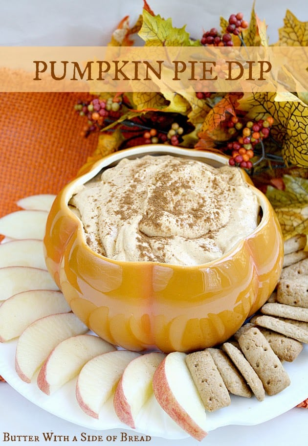 Pumpkin Pie Dip is perfect for dipping apples and graham crackers and it is so easy to make with only five simple ingredients!