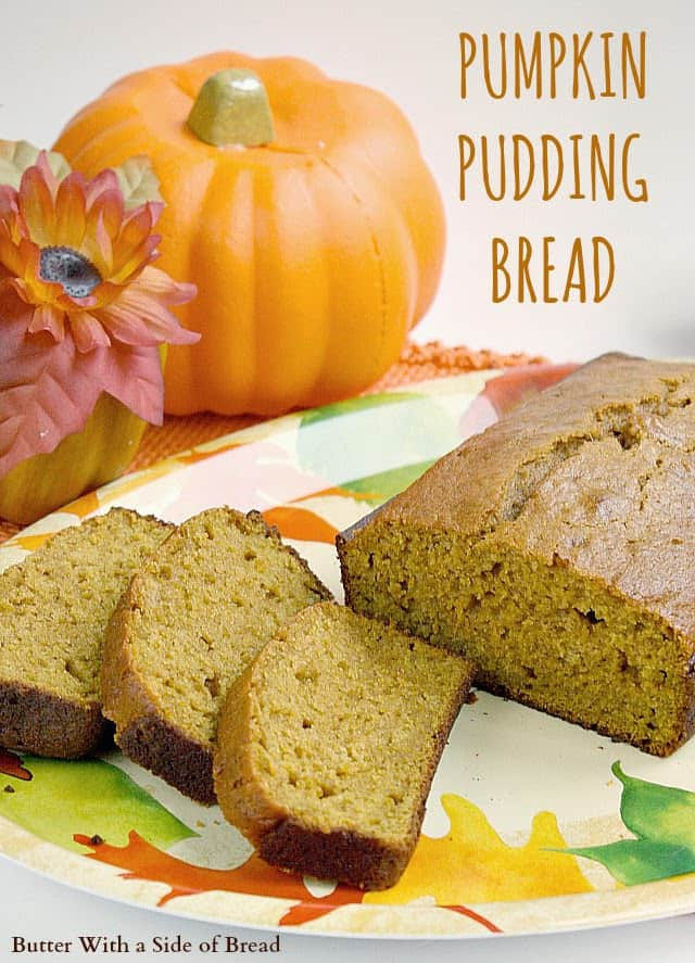 Pumpkin Pudding Bread Butter With A Side Of Bread