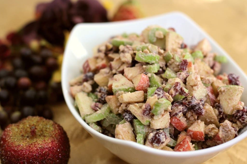 WALDORF CINNAMON APPLE SALAD - Butter with a Side of Bread