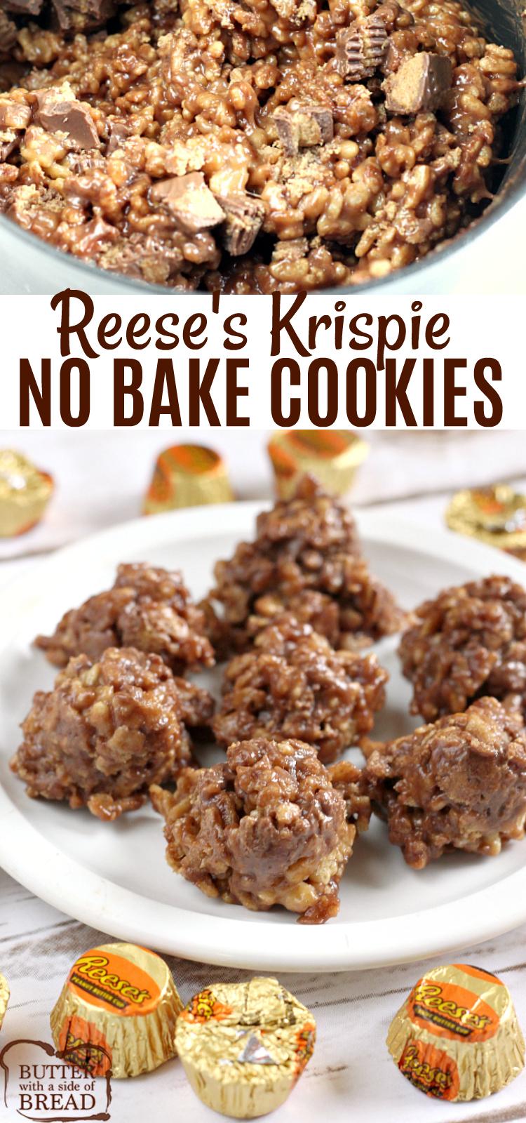 REESE'S KRISPIE NO BAKE COOKIES