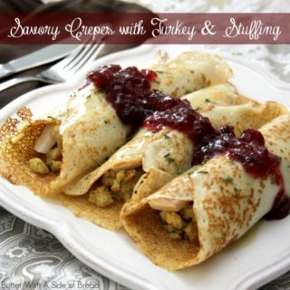 SAVORY CREPES with THANKSGIVING TURKEY & STUFFING