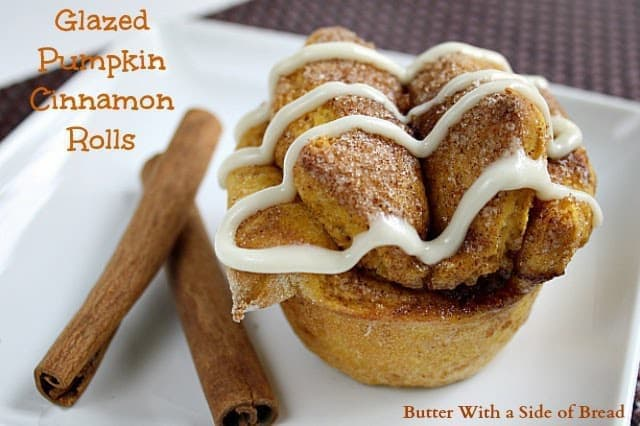 Pumpkin Cinnamon Rolls are the perfect addition to your fall pumpkin recipes! The warm pumpkin cinnamon bread with the glaze on top will have you drooling!