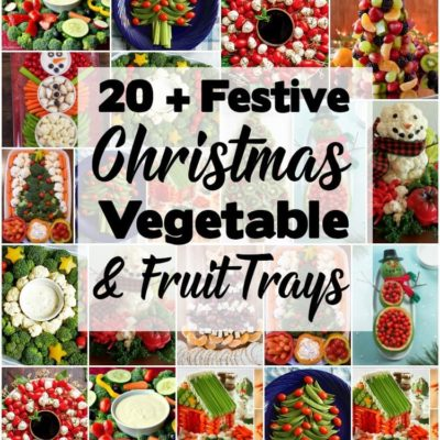 20 FESTIVE HOLIDAY VEGETABLE TRAYS